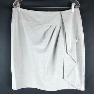 Calvin Klein Gray Ruched Pencil Skirt